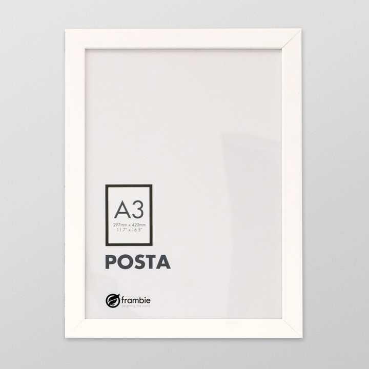 frambie posta white poster frame a3 size picture frame. Black Bedroom Furniture Sets. Home Design Ideas