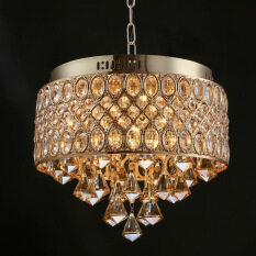 France Gold Romantic High-grade Crystal Diamond Chandeliers Living Room Kitchen Pendant Lights Ceiling Lights