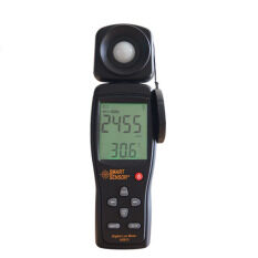 Free Shipping 100,000 Lux Digital LCD backlight Light Meter Lux/FC Measure Tester AS813--industrial grade light sensitive diode