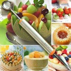 Piring Buah Ukiran Pengeruk Melon Sendok Sendok Es Krim Semangka Perangkat Dapur Aksesoris Alat Pengiris