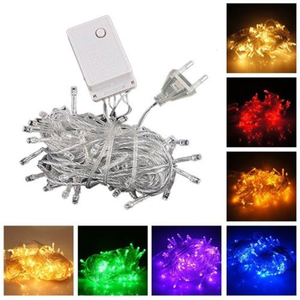 TOMSOO 10M 100 LED Bulb Christmas Fairy Party Deco String Lights Waterproof 220 V EU Plug (Red) half-priced - intl