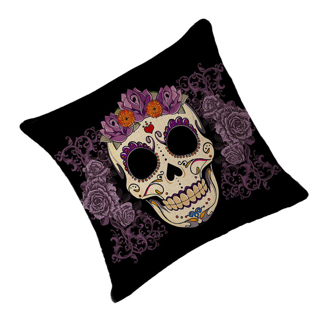 Hình ảnh TOMSOO Skull Pillows Cover Creative Minimalist Geometry Pillows Covers Decorate Nordic Style Sofa Cushion Case M-5 - intl