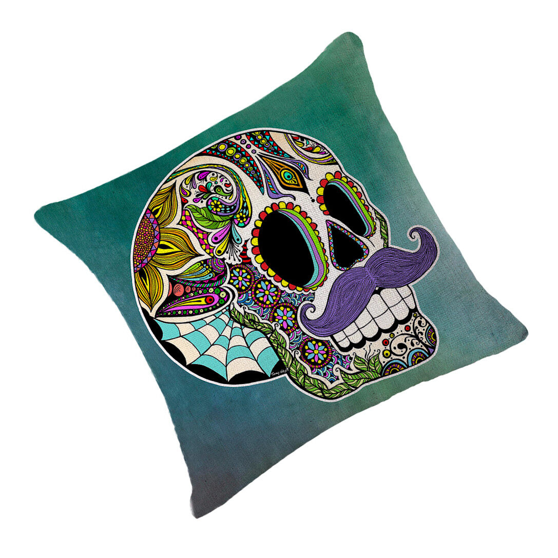 Hình ảnh TOMSOO Skull Pillows Cover Creative Minimalist Geometry Pillows Covers Decorate Nordic Style Sofa Cushion Case M-7 - intl