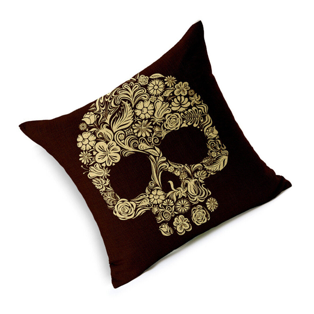 Hình ảnh TOMSOO Skull Pillows Cover Creative Minimalist Geometry Pillows Covers Decorate Sofa Cushion Case M-3 - intl