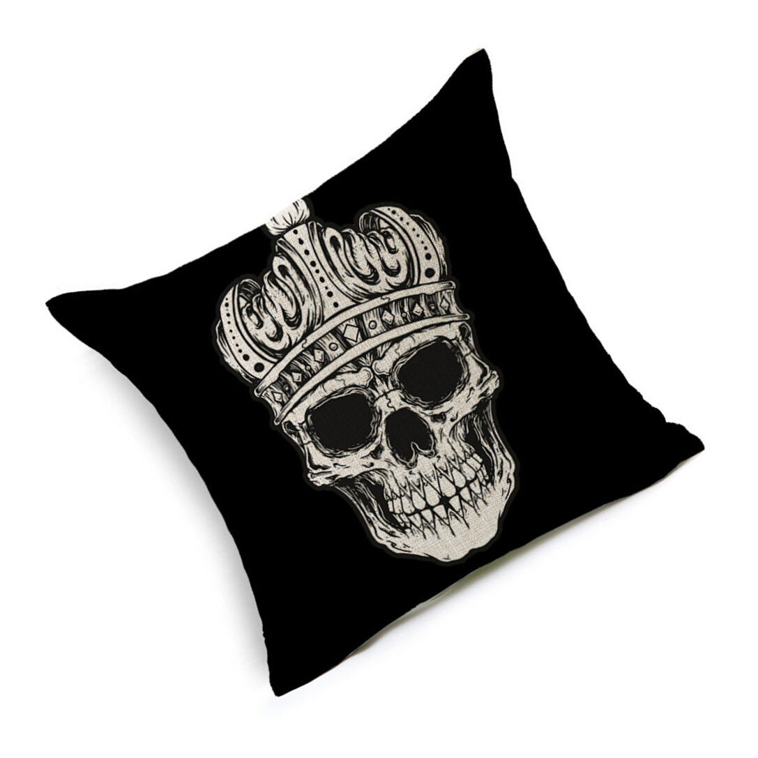 Hình ảnh TOMSOO Skull Pillows Cover Creative Minimalist Geometry Pillows Covers Decorate Sofa Cushion Case M-4 - intl
