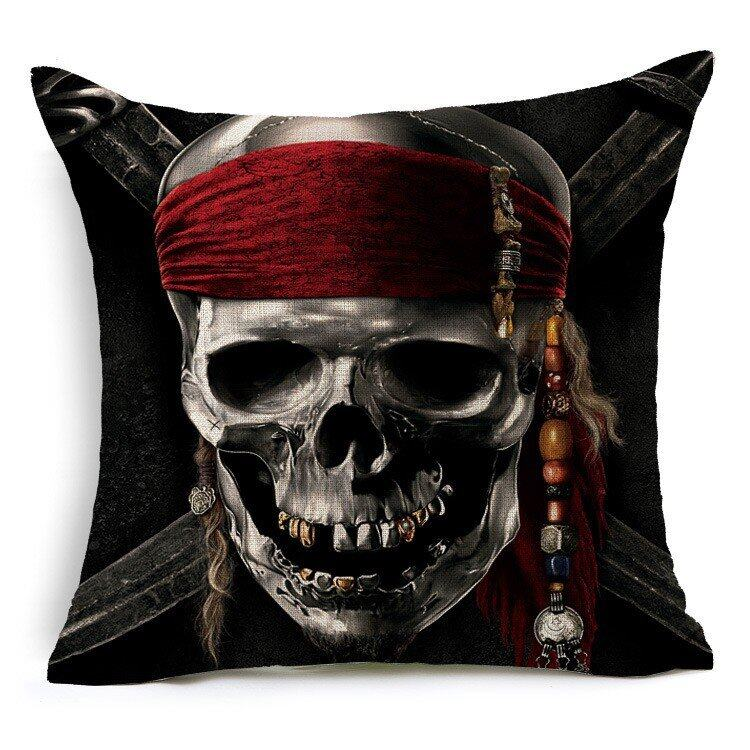Hình ảnh TOMSOO Skull Pillows Cover Creative Minimalist Geometry Pillows Covers Decorate Nordic Style Sofa Cushion Case M-10 fixed - intl