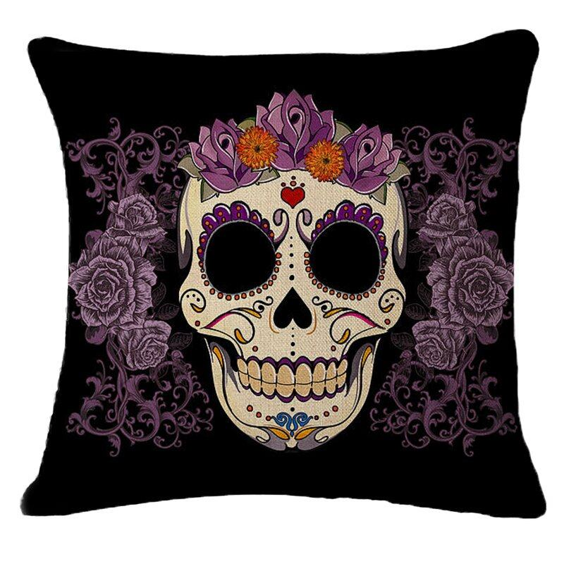 Hình ảnh TOMSOO Skull Pillows Cover Creative Minimalist Geometry Pillows Covers Decorate Nordic Style Sofa Cushion Case M-5 hot-sale - intl