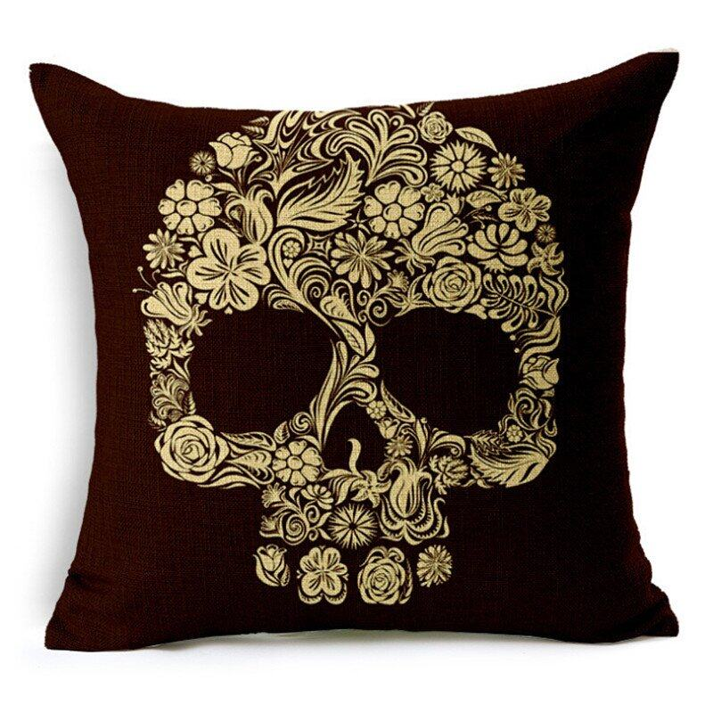 Hình ảnh TOMSOO Skull Pillows Cover Creative Minimalist Geometry Pillows Covers Decorate Sofa Cushion Case M-3 hot-sale - intl