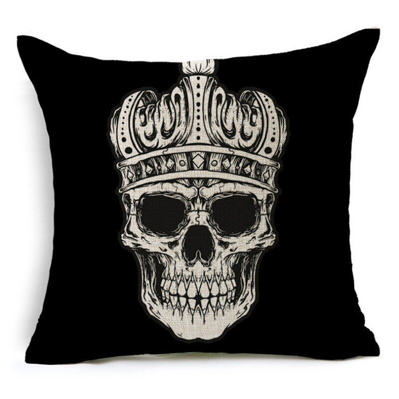 Hình ảnh TOMSOO Skull Pillows Cover Creative Minimalist Geometry Pillows Covers Decorate Sofa Cushion Case M-4 hot-sale - intl
