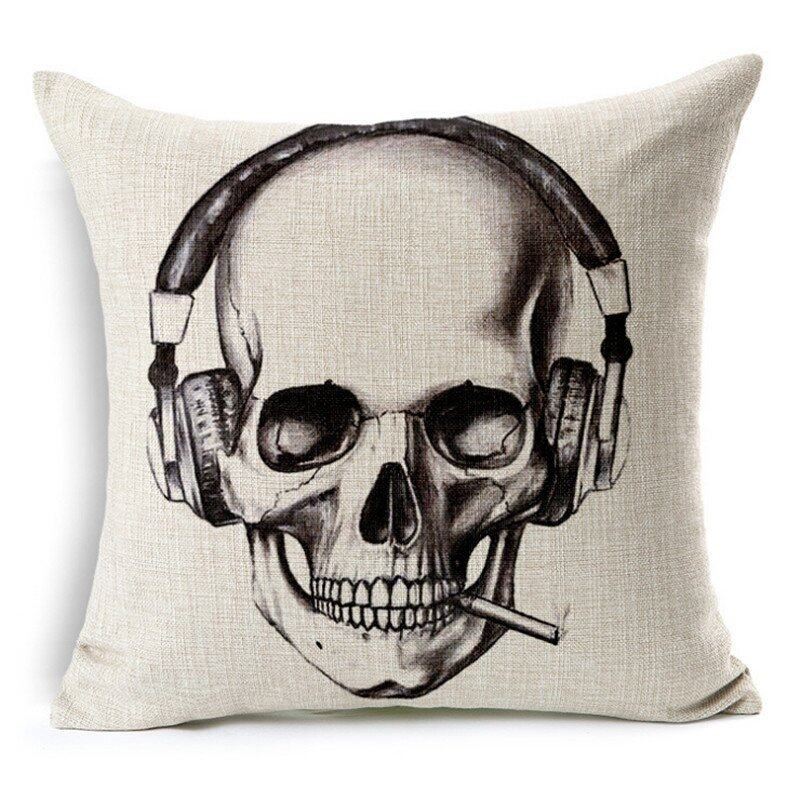 Hình ảnh TOMSOO Skull Pillows Cover Creative Minimalist Geometry Pillows Covers Decorate Sofa Cushion Case M-6 hot-sale - intl