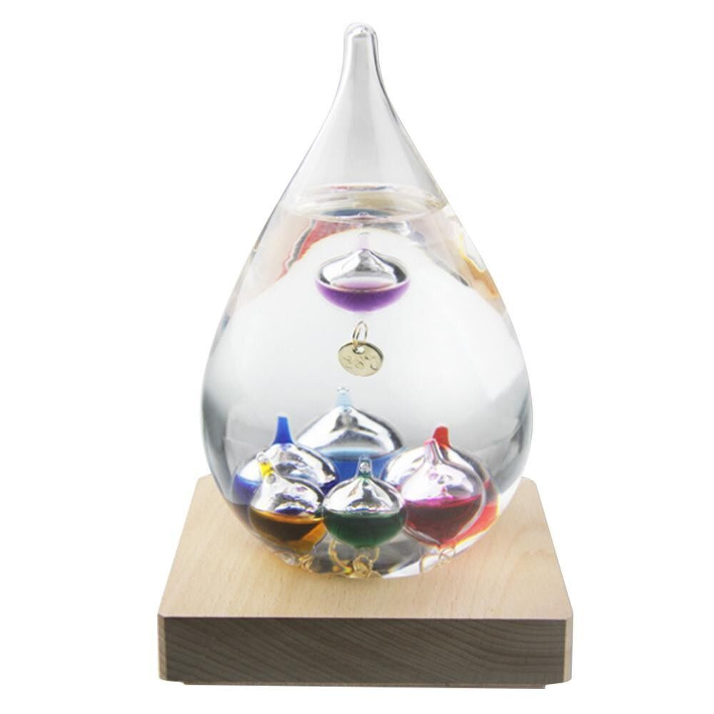 Galileo Weather Temperature Thermometer Floating Colored Balls Glass Thermometer With Dock,12x7cm - Intl By Aolvo.