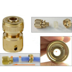Garden Watering Fittings Connector Water Hose Pipe Plumbing Tubing  Plastic Snap Water Connector