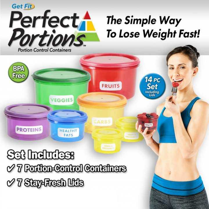Get Fit Perfect Portions - 7 Pcs Portion Control Containers Set