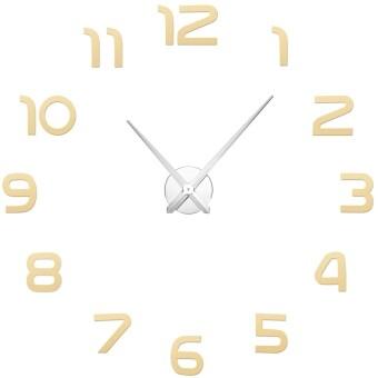 GETEK DIY 3D Number Large Mirror Surface Wall Clock Sticker (Gold)