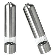 Getek Electric Salt & Pepper Grinder Set Stainless Steel Mill Lamp Light Stainless Steel Set By Masamall
