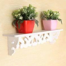 PVC Board White Carve Display Wall Shelf Rack Storage Ledge Home Decor S/M/L - intl