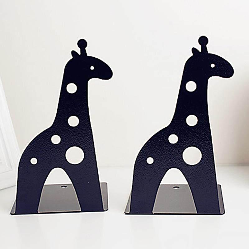 Giraffe elephant tinplate book creative book shelves # Black - intl