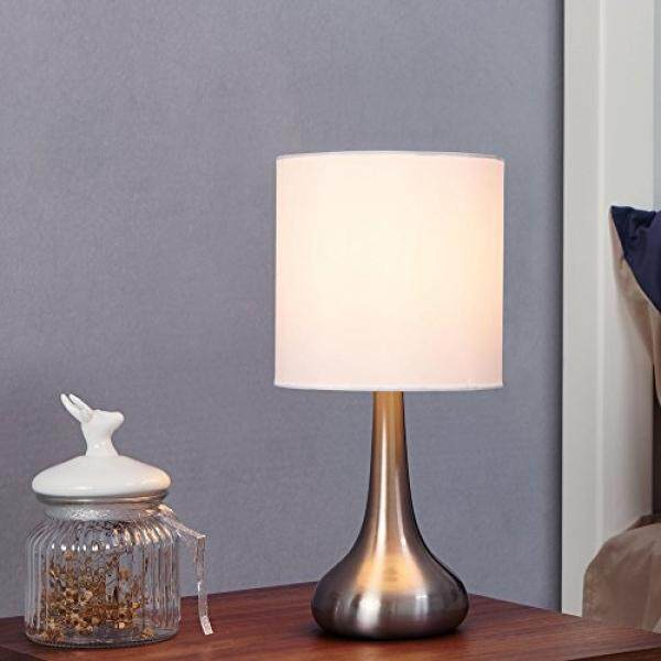 Table lamp for sale table lamps prices brands review in glanzhaus modern style brushed nickel finish base living room bedroom beside table lamp 134 aloadofball Image collections