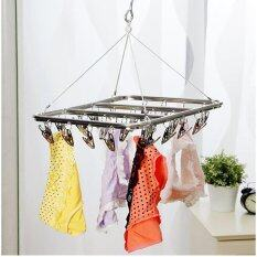 Good Service 26 Peg Aluminium Metal Sock Bra Underwear Clothes Outdoor Dryer Laundry Hanger By Good Service.