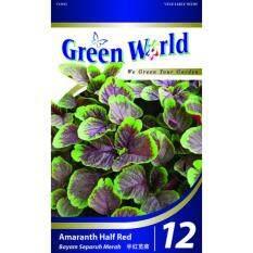 Green World Seeds GW-12 Red Amaranthus (Bayam Merah) ±10G