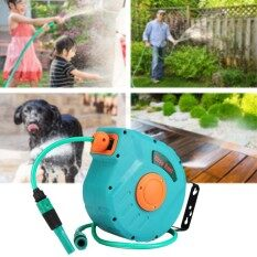 Greenfingers Automatic Retractable Garden Water Hose Reel Swivel Wall Mount New