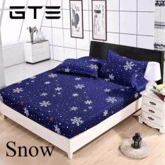 GTE [FITTED] 3 In 1 Premium Artistic Design Bed Sheet King Size