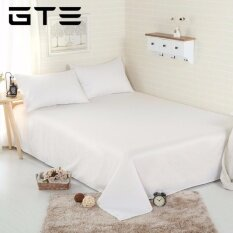 GTE [FITTED] 3 In 1 Premium Solid Plain Bed Sheet Queen Size