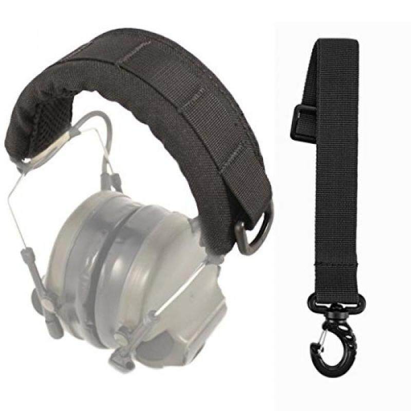 KAIKAMFUNG GVN Tactical Headband Advanced Modular Headset Cover Fit For All General Tactical Earmuffs Accessories Upgrade Bags Case (Black + Accessory Bundle)