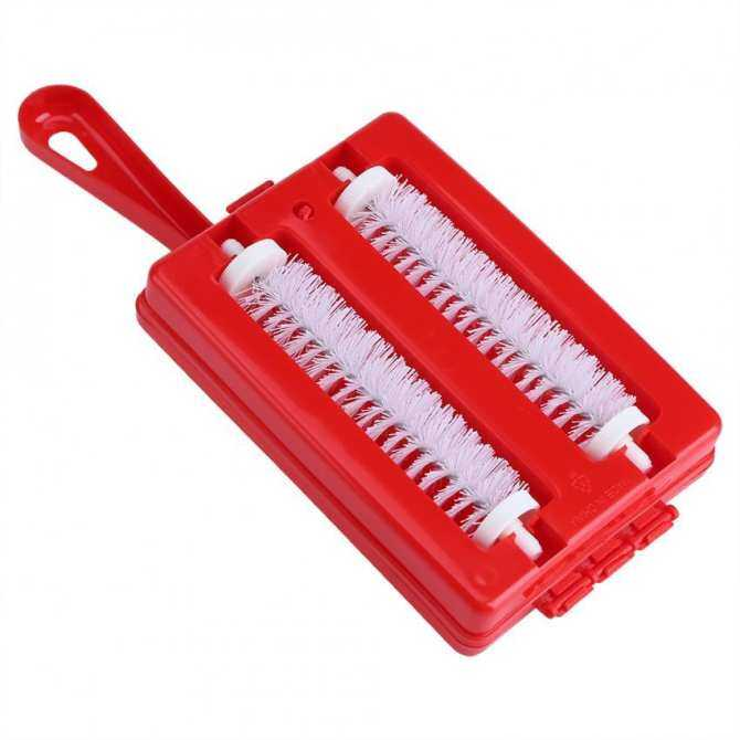... Hand Held Carpet Crumb Brush Collestor Table Sweeper Dirt Home Kitchen  Cleaner Red ...