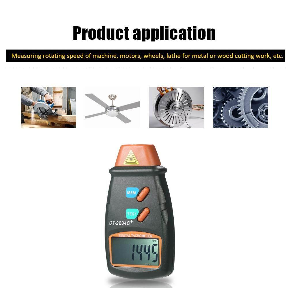 Handheld Digital Tachometer Foto Laser Non-kontak Tach Rentang 2.5 Rpm-99,999 Rpm LCD