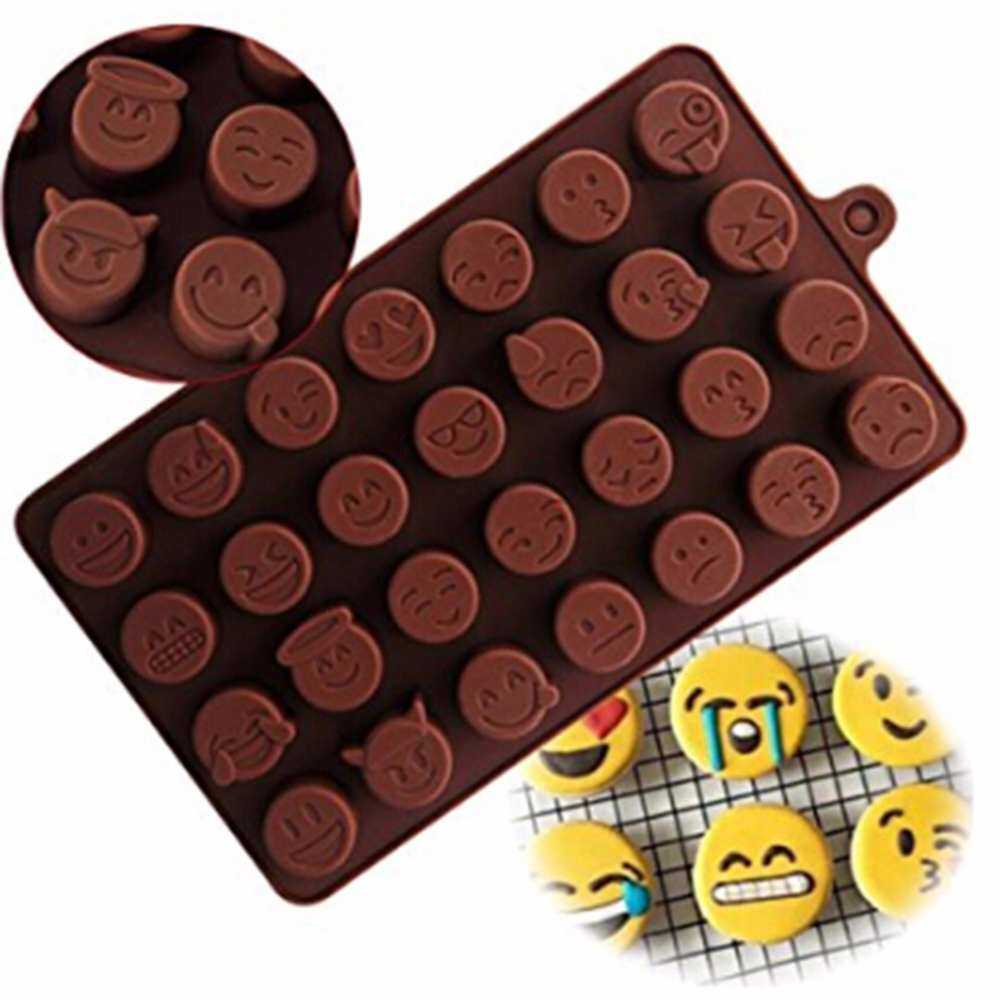 Hanyu 28 Even QQ Expression Chocolate Personality Silicone Ice Mold DIY Ice Tools Baking Cook Mold