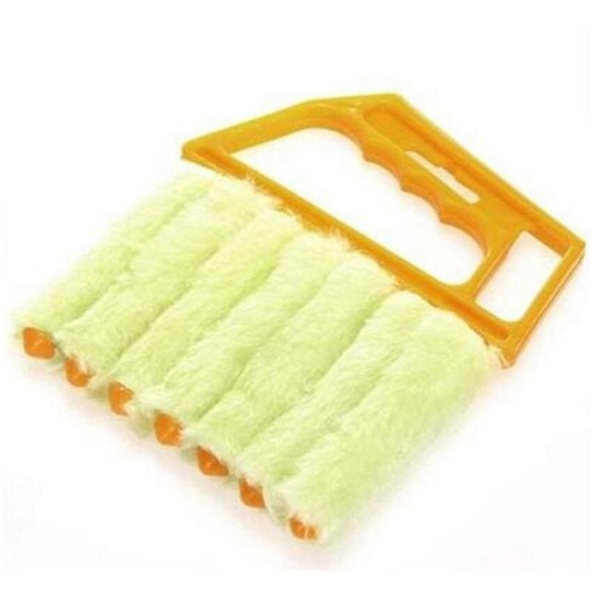 HappyLife Microfibre Mini-Blind Cleaner Brush For Cleaning Window Airconditioner Duster Dirt (Orange)