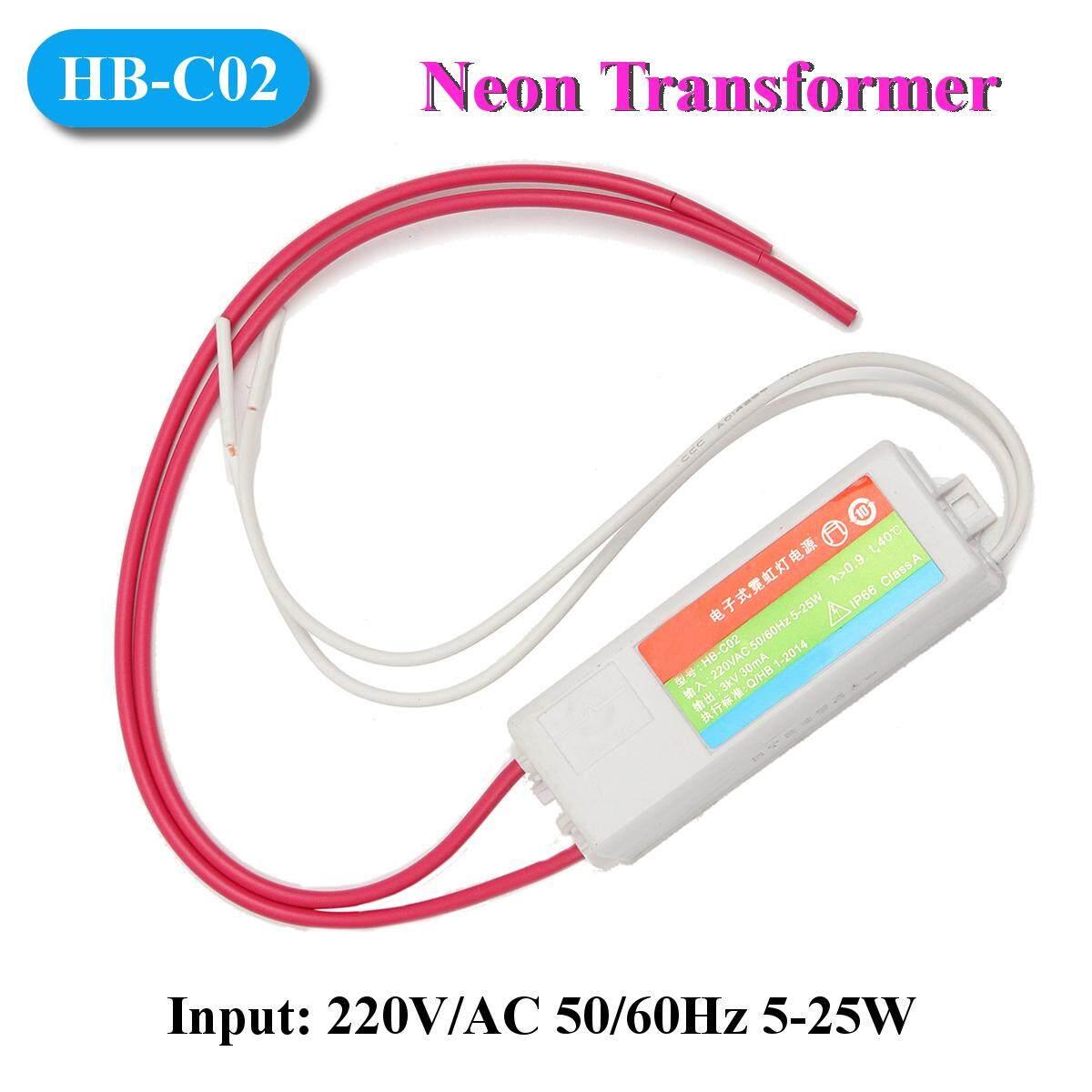 HB-C02 Plastic Neon Light Electronic Transformer 3KV 30mA Load Neon Sign Power Supply - intl - 5