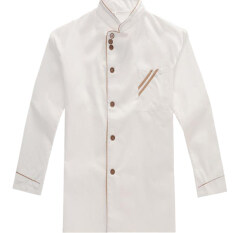 HengSong Chefs Long Sleeve Kitchen Work Uniform White