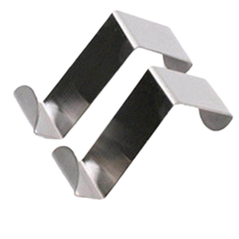 Hequ 2Pcs Set Stainless Steel Self Home Kitchen Wall Door Holder Hook Hanger Hanging Coat Hooks