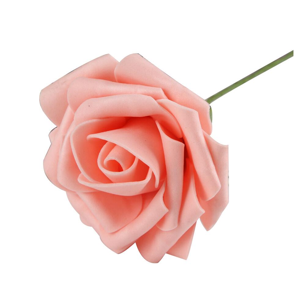Hequ 6pcs Artificial Foam Rose Flowers Home Bouquet Wedding Party Craft Decor (Pink) -