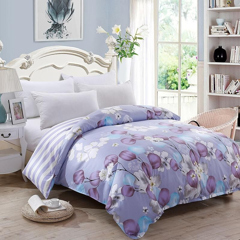 Hi Q S F Q K Size Beautiful Flowers Quilt Cover Intl Best Price
