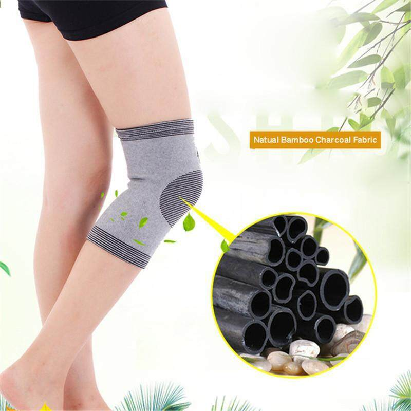 High quality 1 Piece Knee Protector Autumn and Winter Elasticity Breathable Knee Pads Relief Prevent Arthritis Knee Guard Sports Knee Support - S