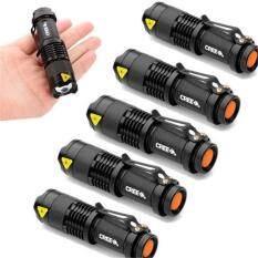 High Quality Hard Light Lantern Torch Light Mini LED Flashlight 2000 Lumens Ultrafire Zoomable Penlight Lanterna (Color: Black)