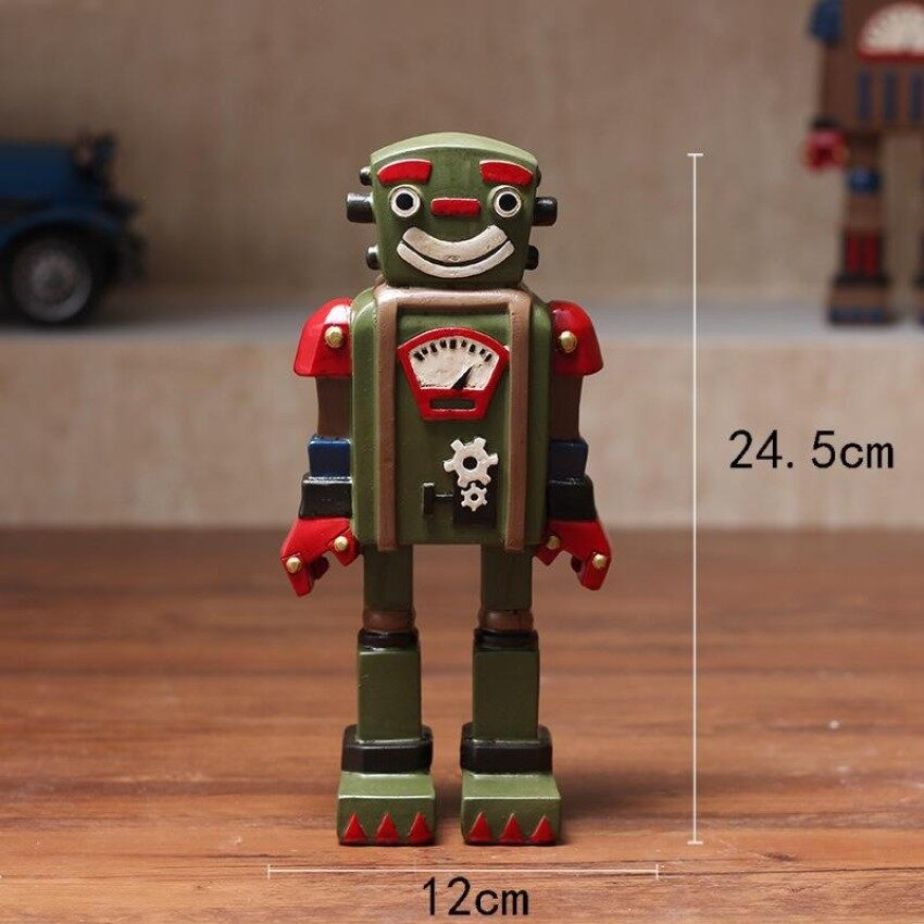 Hlying Retro Antik Dekorasi Robo untuk Warung Kopi Toko Show Warna: Hijau Tentara-Intl