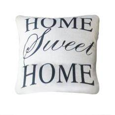 Hình ảnh Homes Cotton Linen Pillow Letter Throw Pillow Case Cover size:HOME SWEET