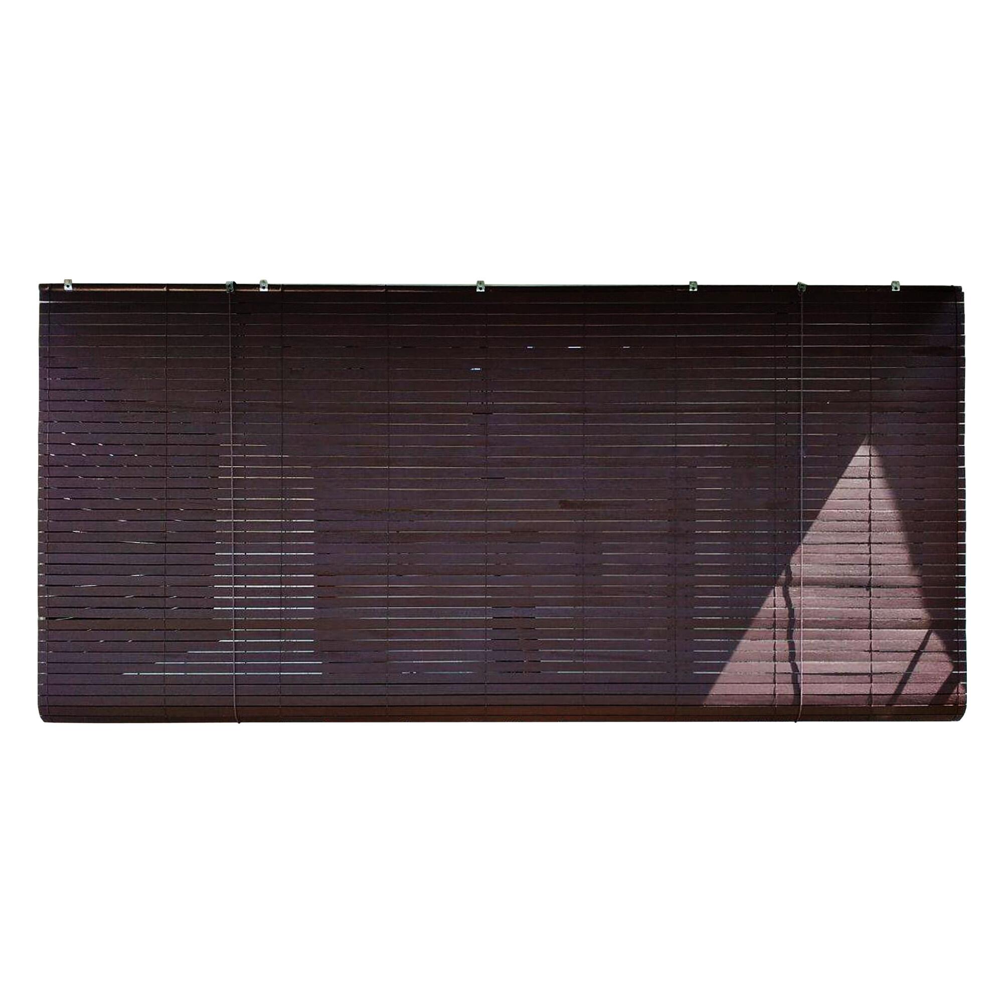 Homez Solid Blinds (W) 6 ft x (H) 6 ft 100% Meranti Wood Wooden Blinds - (Wenge) - intl