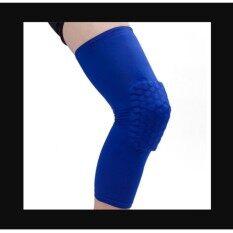 Vegoo Honeycomb Pad Crashproof Antislip Basketball Leg Knee Long Sleeve Protector Gear Blue Length:47cm/18.5in