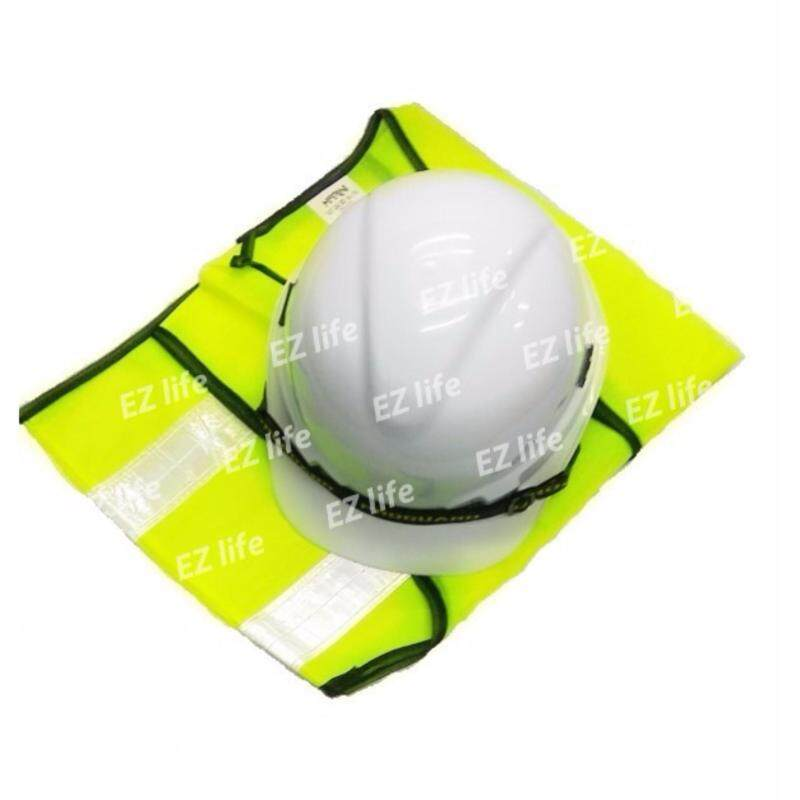 Ezlife HOT ITEM (Safety Helmet White Colour SIRIM And Reflective Vest ) for Construction Or Industry