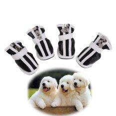 Hot Pu Comfortable Boots Waterproof Shoes For Small Big Pet Dog Black No.3 By Crystalawaking.