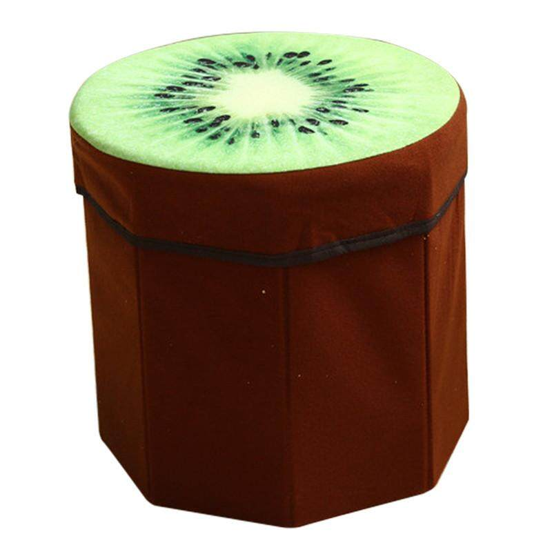 Hot Sales Funny High capacity Folding Stools Storage Storage box Debris Case - Kiwi - intl
