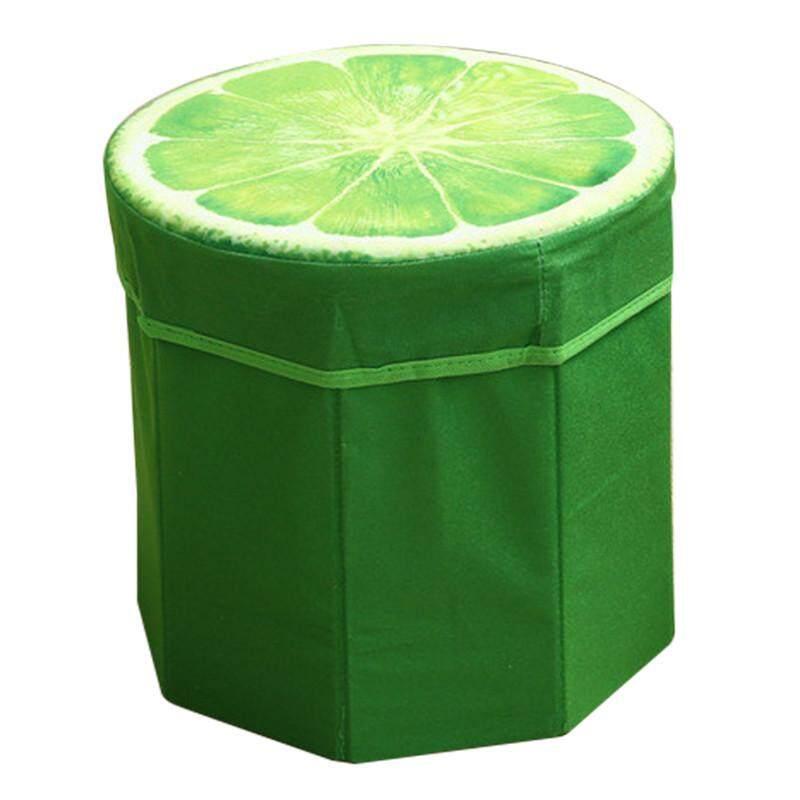 Hot Sales Funny High capacity Folding Stools Storage Storage box Debris Case - Lemon - intl
