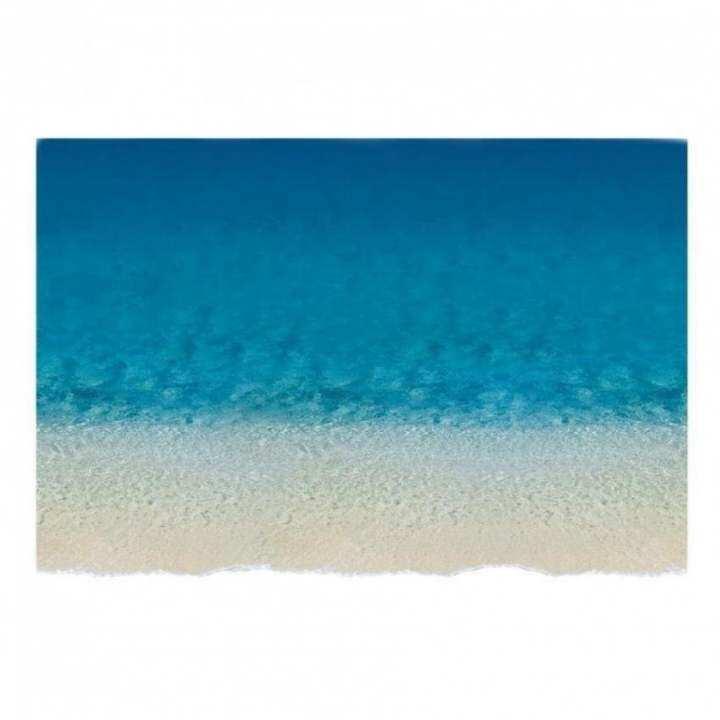 Hot Selling 3D Beach Decal Wall Sticker Home Floor Decor Exotic Beach View Art Wallpaper Mural