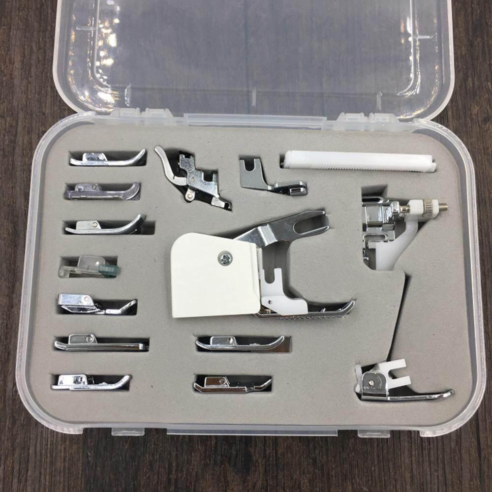 Listrik Rumah Tangga Multifungsi Mesin Jahit Quilting Patchwork Sinkronisasi Presser Kaki Set Kotak-Internasional
