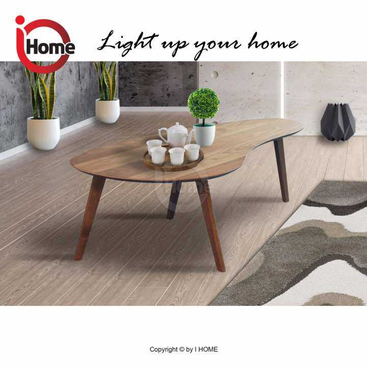 I HOME OKAMA Coffee Table / Natural Wooden Top Solid Wood